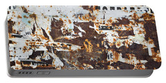 Rust And Torn Paper Posters Portable Battery Charger by John Williams
