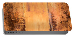 Rust On Metal Texture Portable Battery Charger by John Williams