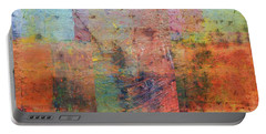 Portable Battery Charger featuring the painting Rust Study 1.0 by Michelle Calkins