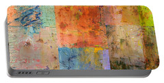 Portable Battery Charger featuring the painting Rust Study 2.0 by Michelle Calkins