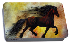 Portable Battery Charger featuring the painting Rust Unicorn by Stanley Morrison