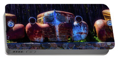 Rusted Out Old Cars Portable Battery Charger by Garry Gay