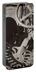 Portable Battery Charger featuring the photograph Rusted Tractor by Michelle Calkins