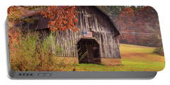 Rustic Barn In Autumn Portable Battery Charger
