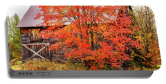 Portable Battery Charger featuring the photograph Rustic Barn In Fall Colors by Jeff Folger