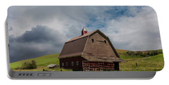 Rustic Barn Palouse Washington Portable Battery Charger by James Hammond