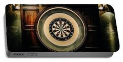 Rustic British Dartboard Portable Battery Charger