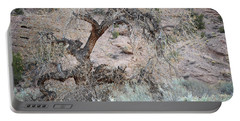 Portable Battery Charger featuring the photograph Rustic Desert Tree by Andrea Hazel Ihlefeld