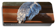 Rustic Elegance - White Peahen Portable Battery Charger