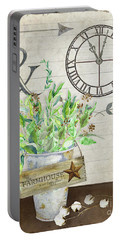 Rustic Farmhouse Our Happy Place Portable Battery Charger