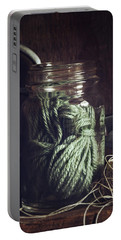 Rustic Green Portable Battery Charger
