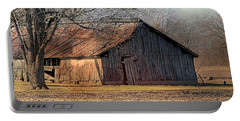 Rustic Midwest Barn Portable Battery Charger
