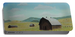 Rustic Montana Barn Portable Battery Charger by Jayne Wilson