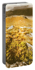 Rustic Mountain Terrain Portable Battery Charger