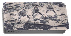 Rustic Nautical Artwork Portable Battery Charger