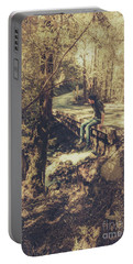 Rustic Rural Retreat Portable Battery Charger