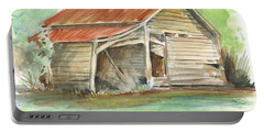 Rustic Southern Barn Portable Battery Charger