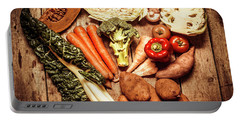 Rustic Style Country Vegetables Portable Battery Charger