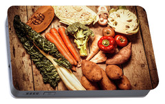 Rustic Style Country Vegetables Portable Battery Charger by Jorgo Photography - Wall Art Gallery
