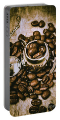 Rustic Teapot Art Portable Battery Charger