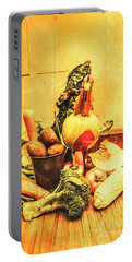 Rustic Vegetable Decor Portable Battery Charger