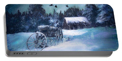 Rustic Winter Barn  Portable Battery Charger