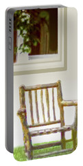 Rustic Wooden Rocking Chair Portable Battery Charger