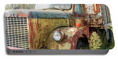 Rusty And Crusty Reo Truck Portable Battery Charger