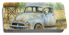 Rusty Blue Chevy Portable Battery Charger
