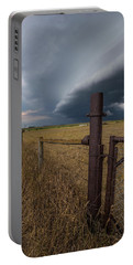 Portable Battery Charger featuring the photograph Rusty Cage  by Aaron J Groen