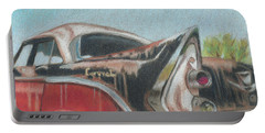 Portable Battery Charger featuring the painting Rusty Fin by Arlene Crafton