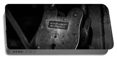 Rusty Lock In Bw Portable Battery Charger