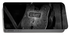 Portable Battery Charger featuring the photograph Rusty Lock In Bw by Doug Camara