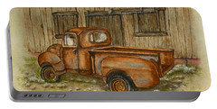 Rusty Old Ford Pickup Truck Portable Battery Charger