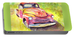 Rusty Old Red Truck Portable Battery Charger