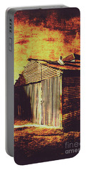 Rusty Outback Australia Shed Portable Battery Charger