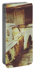 Rusty Pickup Garage Portable Battery Charger