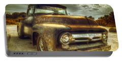Rusty Truck Portable Battery Charger by Mal Bray