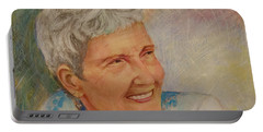 Ruth Sentelle Portrait 2 Portable Battery Charger by Ron Richard Baviello