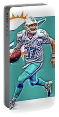 Ryan Tannehill Miami Dolphins Oil Art Portable Battery Charger