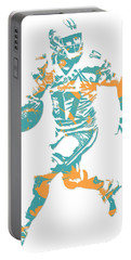 Ryan Tannehill Miami Dolphins Pixel Art 1 Portable Battery Charger