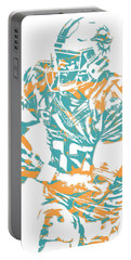 Ryan Tannehill Miami Dolphins Pixel Art 2 Portable Battery Charger