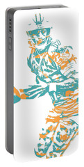Ryan Tannehill Miami Dolphins Pixel Art 3 Portable Battery Charger