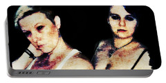 Portable Battery Charger featuring the digital art Ryli And Alex 1 by Mark Baranowski