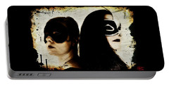 Portable Battery Charger featuring the digital art Ryli And Corinne 1 by Mark Baranowski