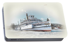 Portable Battery Charger featuring the photograph S. S. Sicamous II by John Poon