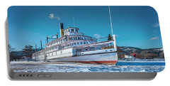 Portable Battery Charger featuring the photograph S. S. Sicamous by John Poon