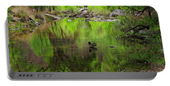 Portable Battery Charger featuring the photograph Sabino Reflection Op53 by Mark Myhaver