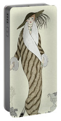 Sable Coat With White Fox Trim Portable Battery Charger