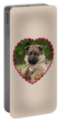 Portable Battery Charger featuring the photograph Sable Puppy In Heart by Sandy Keeton